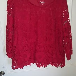 Lace Red Top